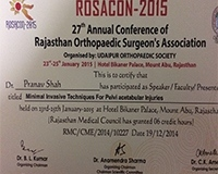 At ROSACON 2015 Conference (Delivered Lecture to Orthopedicians Of Rajasthan)
